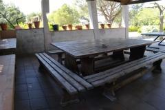 Mesa de la casa rural de Can Micos en Riudarenes | Girona