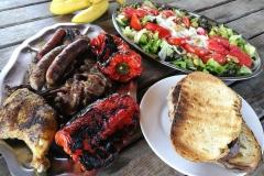 comida realizada en la casa rural de Can Micos | Costa Brava