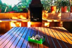 Barbacoa de la casa rural de Can Micos en Riudarenes | Girona