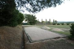 pista de petanca de la casa rural de Can Micos en Girona