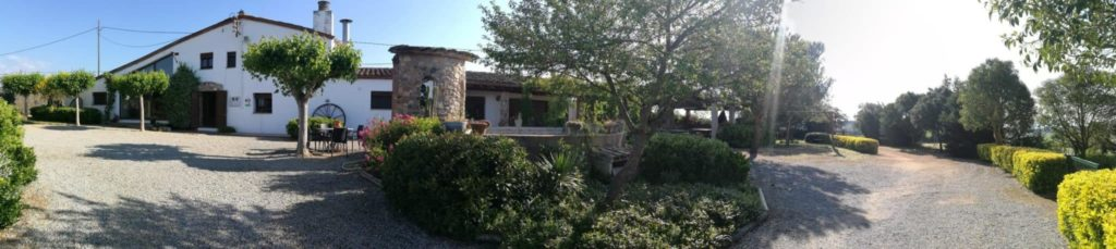 panoramica de la casa rural cerca de Barcelona