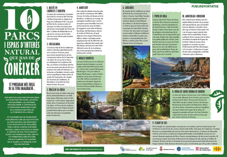 parcs naturals de La selva a Girona