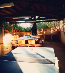 Barbacoa de la casa rural de Can Micos a Girona