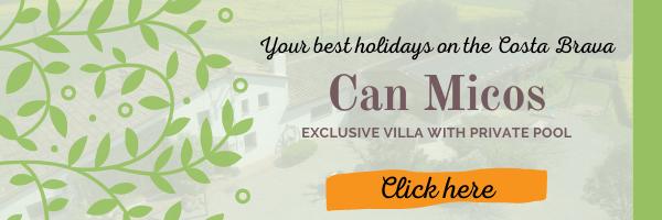 Can Micos exclusive villa on Costa Brava with private pool