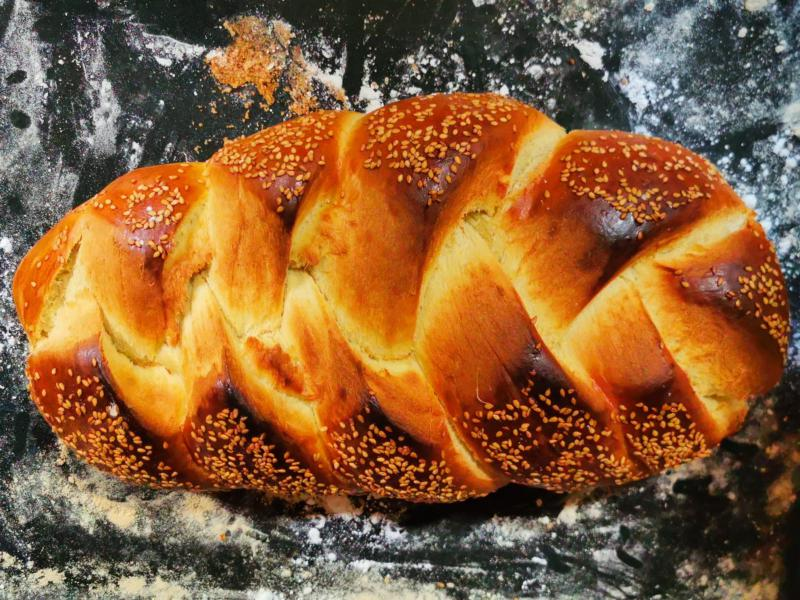 Pan Trenzado facil de hacer, receta