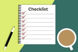 Checklist de limpieza de la casa rural